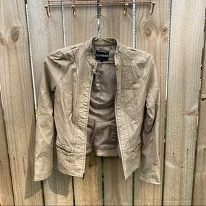 Express Tan Faux Leather Jacket